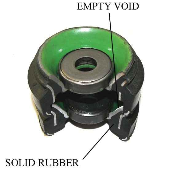 Strut Mount, Early Small Chassis Audi, Density Line