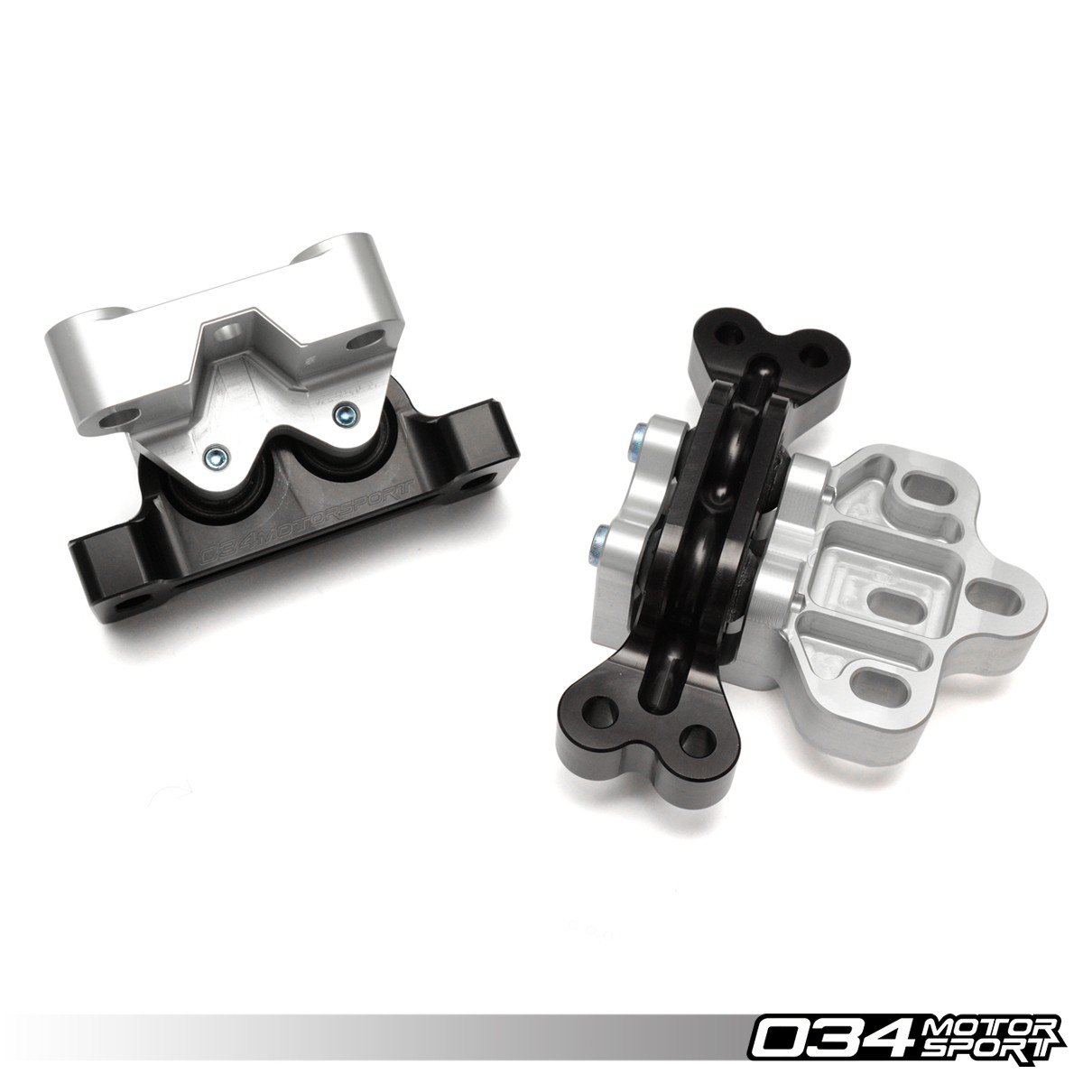 Motorsport Engine/Transmission Mount Pair, 8J/8P Audi A3/TT 3.2L & MkV Volkswagen R32, Billet Aluminum