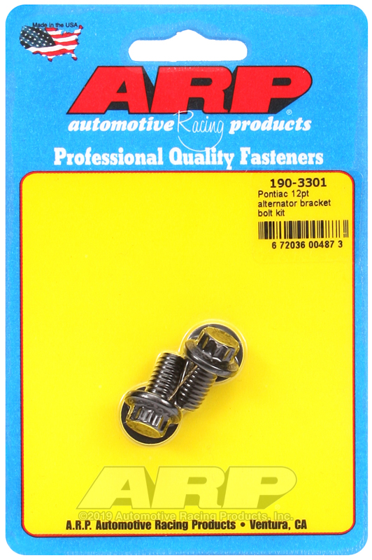 Pontiac 12pt alternator bracket bolt kit