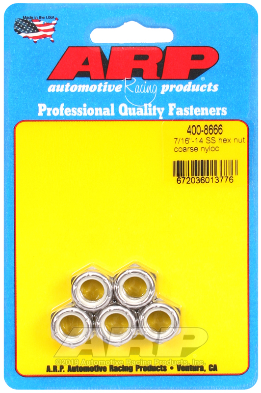 7/16-14 SS coarse nyloc hex nut kit