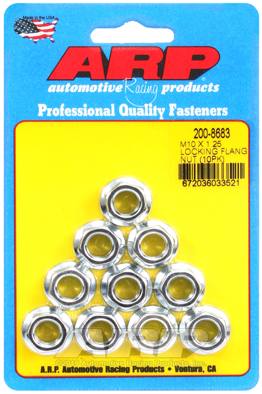 M10 X 1.25 locking flange nut kit
