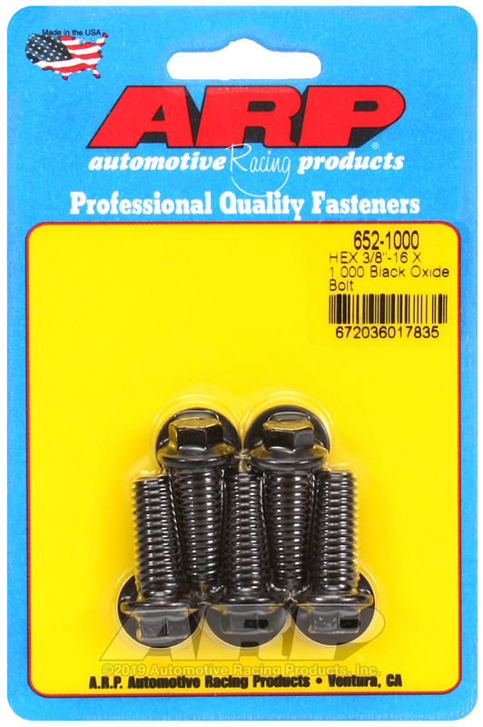 3/8-16 X 1.000 hex black oxide bolts