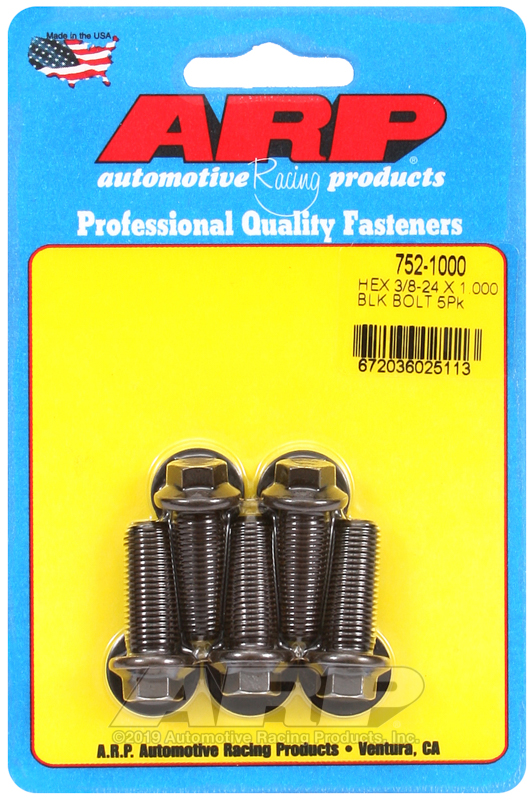 3/8-24 x 1.000 hex black oxide bolts