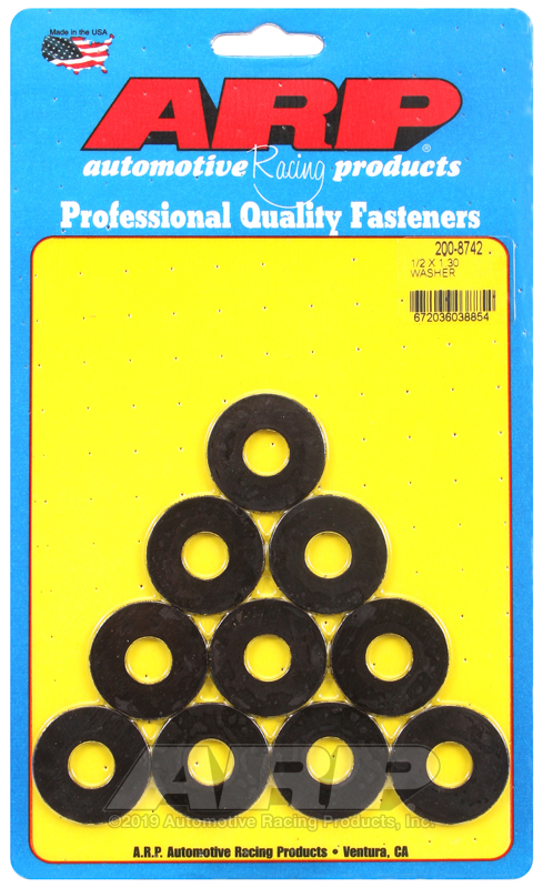 1/2 ID 1.30 OD black washers
