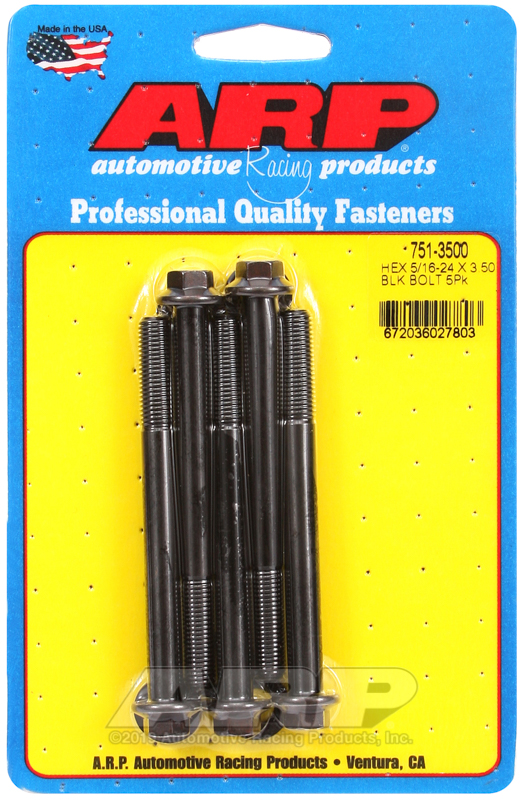 5/16-24 x 3.500 hex black oxide bolts