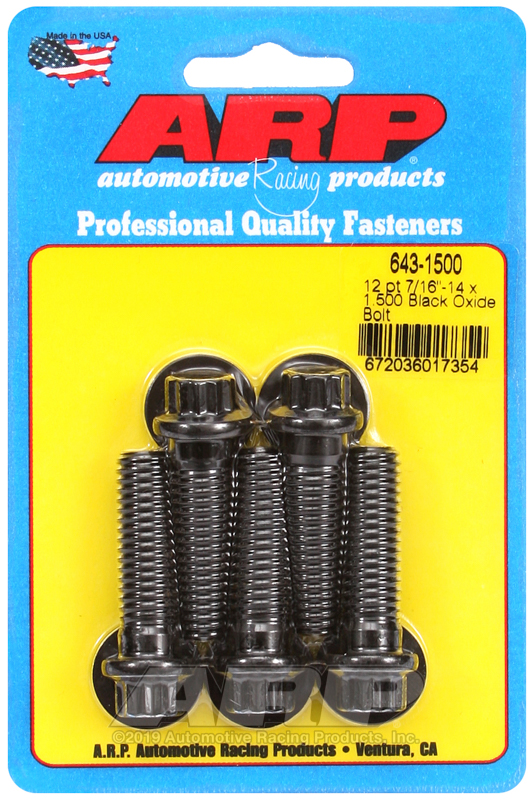 7/16-14 x 1.500 12pt black oxide bolts