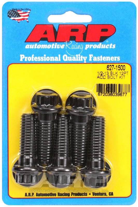1/2-13 x 1.500 12pt black oxide bolts