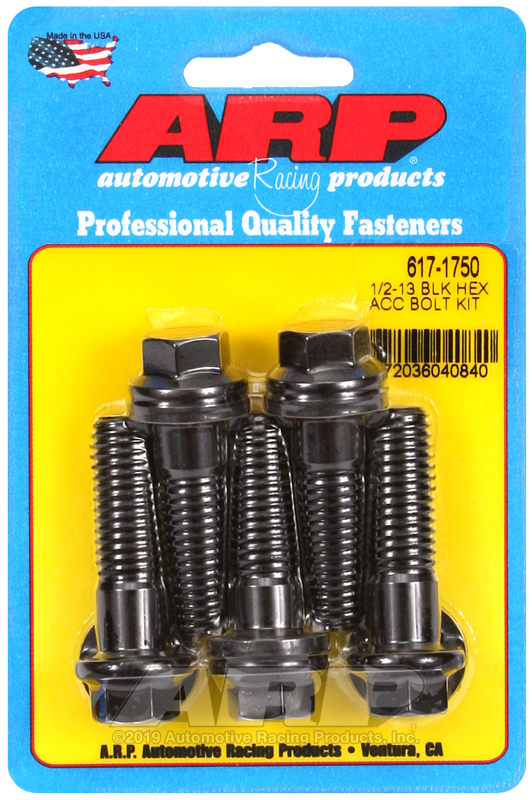 1/2-13 x 1.750 hex black oxide bolts