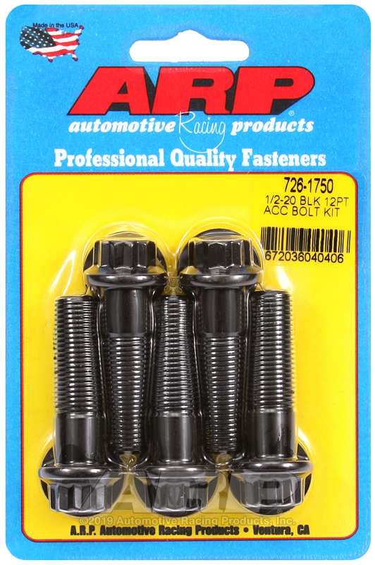 1/2-20 x 1.750 12pt black oxide bolts