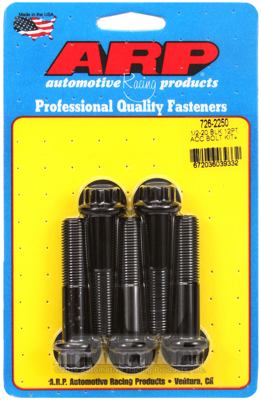 1/2-20 x 2.250 12pt black oxide bolts
