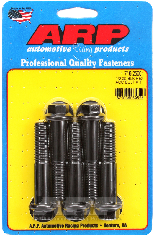 1/2-20 x 2.500 hex black oxide bolts