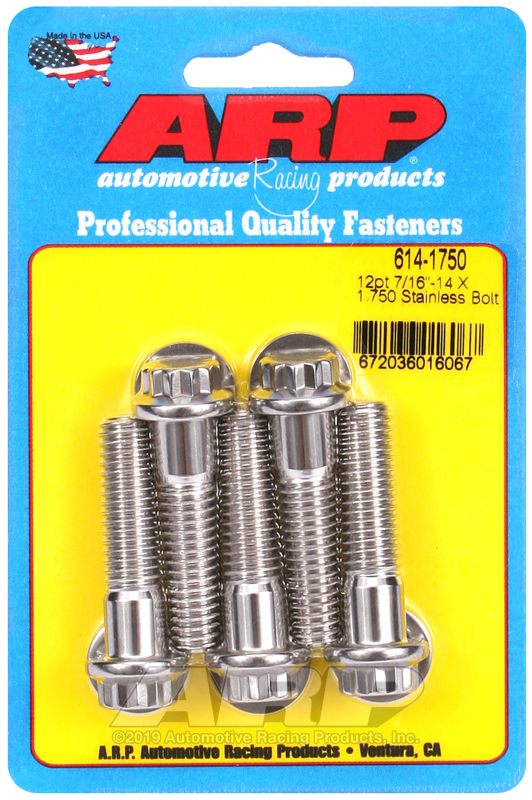 7/16-14 X 1.750 12pt 1/2 wrenching SS bolts