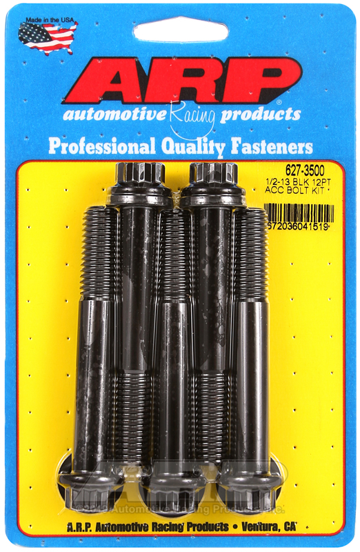1/2-13 x 3.500 12pt black oxide bolts