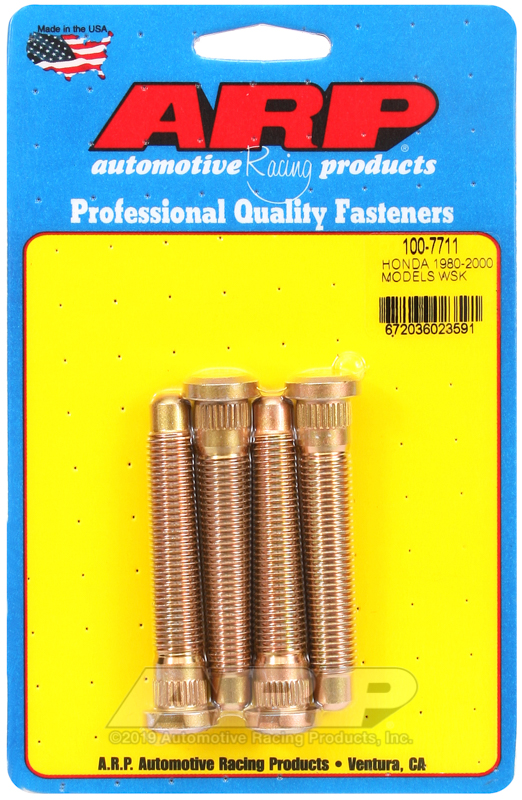 "Honda '96 & earlier M12 X 2.85"" wheel stud kit"