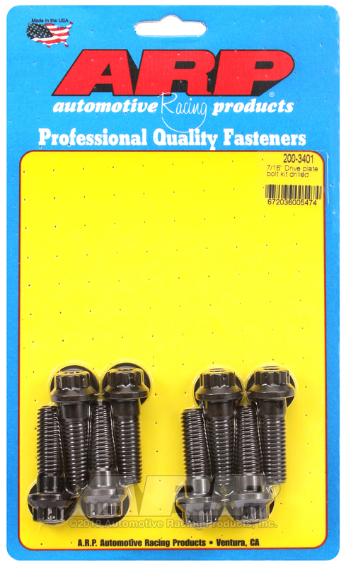 Wilwood drive plate bolt, 7/16, drilled 12 pt, 8pcs