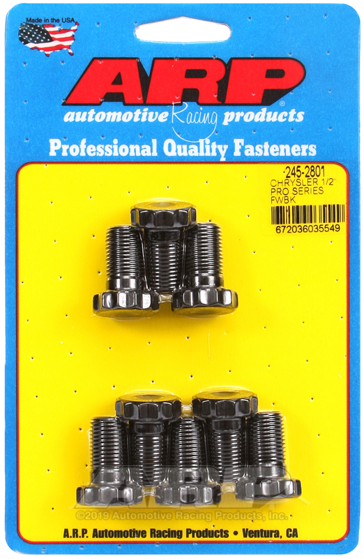 Chrysler 1/2 pro series flywheel bolt kit