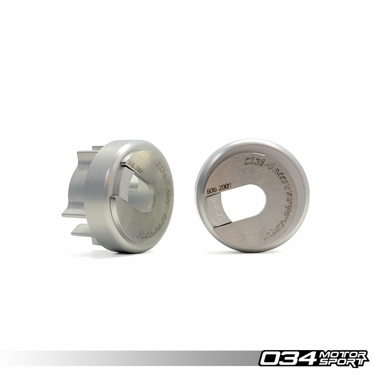 Rear Differential Carrier Mount Insert Kit, B6/B7 Audi A4/S4/RS4, Billet Aluminum