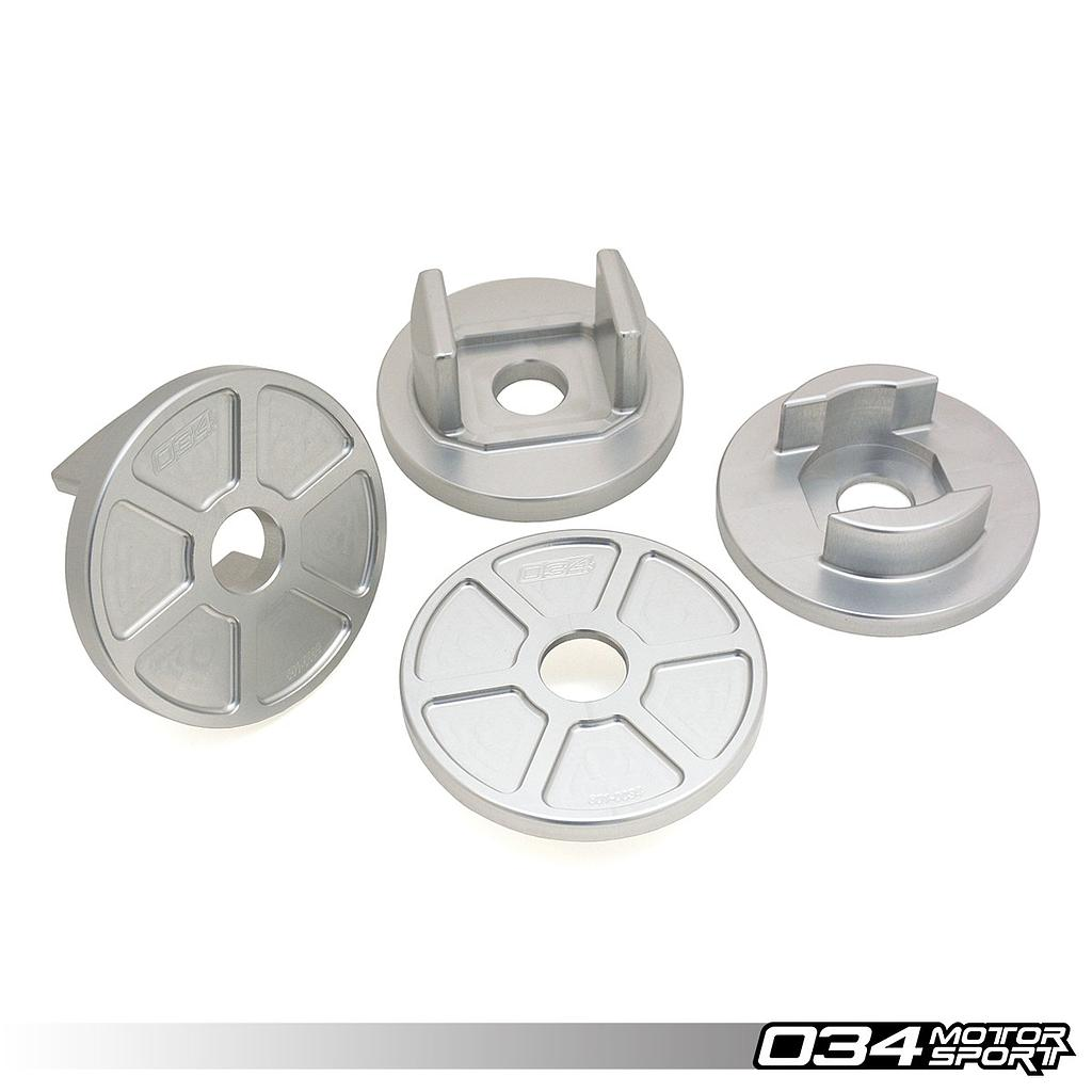 Billet Aluminum Rear Subframe Mount Insert Kit, B8/B8.5 Audi S4/RS4, S5/RS5, Q5/SQ5