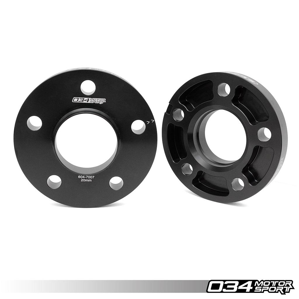 Wheel Spacer Pair, 20mm, Audi 5x112mm with 66.6mm Center Bore