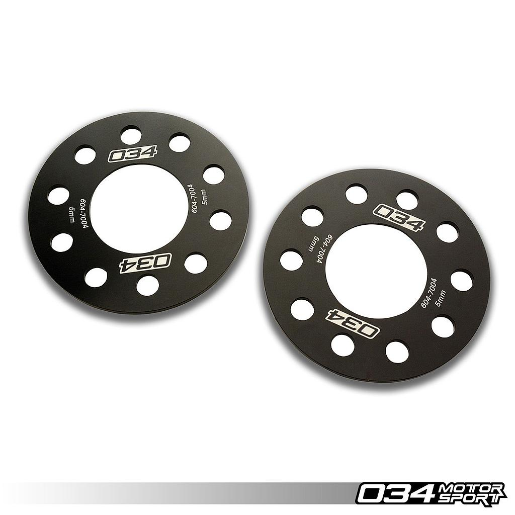 WHEEL SPACER PAIR, 5MM, AUDI 5X112MM WITH 66.5MM CENTER BORE