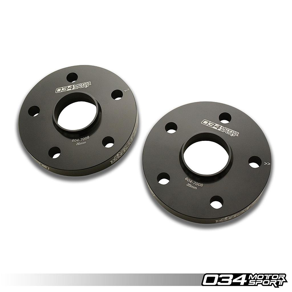 WHEEL SPACER PAIR, 20MM, AUDI/VOLKSWAGEN 5X112MM WITH 57.1MM CENTER BORE